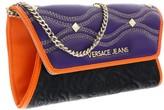 Versace EE3VOBPK3 EMGH Black/Purple Wallet On A Chain