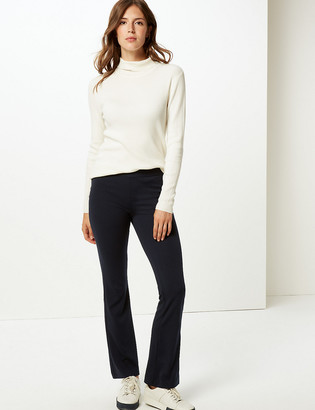 Marks and Spencer Jersey Slim Fit Flare Trousers