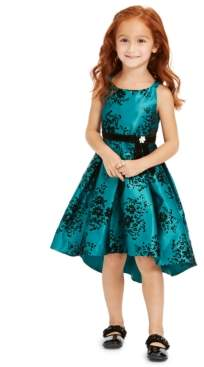 Rare Editions Toddler Girls Glitter-Print High-Low Dress