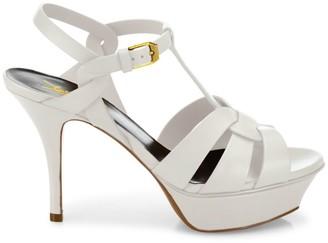Saint Laurent Tribute 75MM Leather Platform Sandals