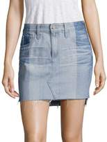 AG Jeans Sandy Colorblock Denim Mini Skirt