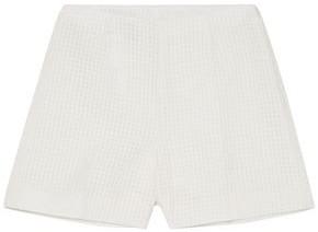 Akris Carlotta Checked Cotton-blend Voile Shorts