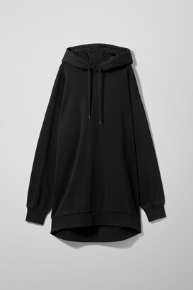 Weekday Lizette Hoodie Dress - Black