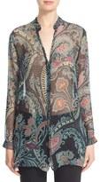 Etro Women's Paisley Print Silk Chiffon Tunic