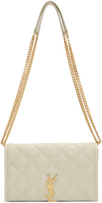 Saint Laurent Off-White Becky Chain Wallet Bag