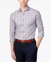 Vince Camuto Purple Grey Ombre Check Shirt