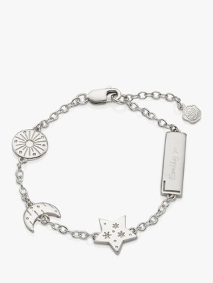 Under the Rose Personalised Sun Moon and Star Chain Bracelet, Silver