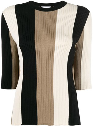 Ami Paris Striped Knitted Jumper