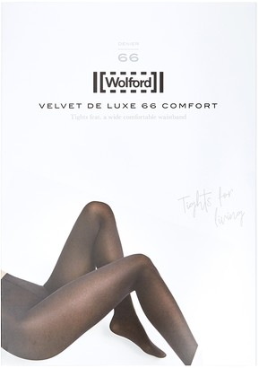 Wolford Velvet De Luxe dark red 66 denier tights