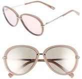 Elizabeth and James Women's Reed 57Mm Aviator Sunglasses - Stone