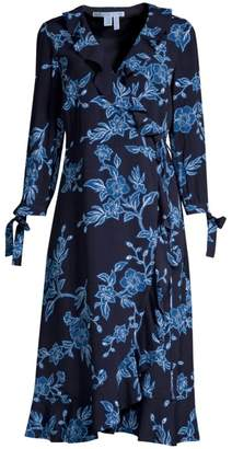 Draper James Shadow Floral Wrap Dress