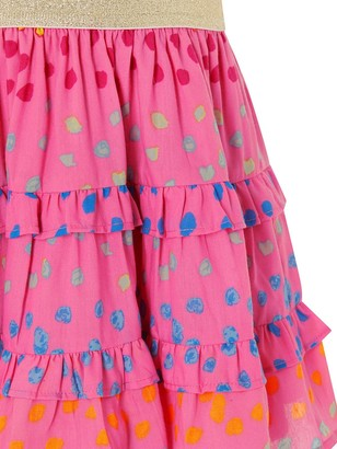 Monsoon Girls Rainbow Spot Skirt - Bright Pink