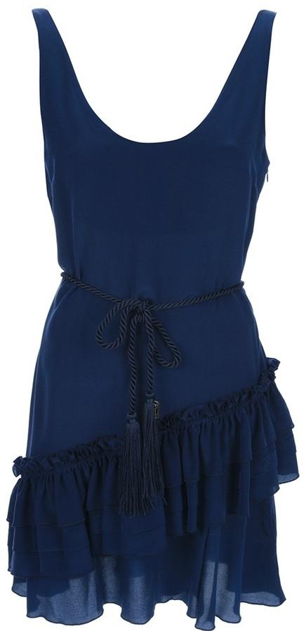 Galliano tiered hem dress