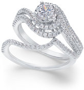 Macy's Diamond Swirl Bridal Set (1 ct. t.w.) in 14k White Gold