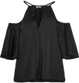 Temperley London Luna Cutout Crepe De Chine Blouse - Black