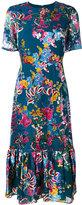 Saloni floral print dress - women - Silk/Polyester/Rayon - 12