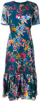 Saloni floral print dress - women - Silk/Polyester/Rayon - 8