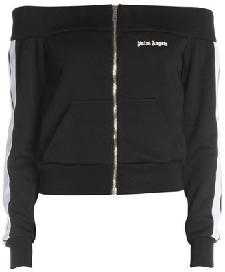 Palm Angels Off-The-Shoulder Track Jacket