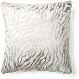 Le-Coterie Baby Zebra Hide Pillow, Silver