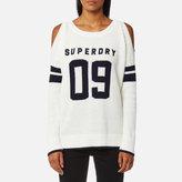 Superdry Women's Varsity Cold Shoulder Knitted Jumper