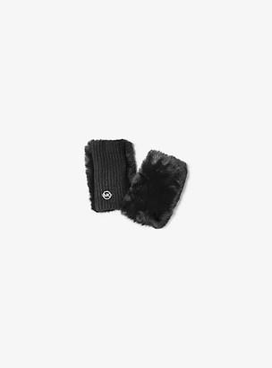 Michael Kors Faux Fur Fingerless Gloves