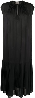 By Malene Birger Tie-Neck Pleated Dress