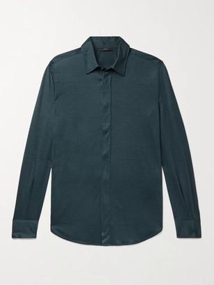 Brioni Cashmere And Silk-Blend Shirt