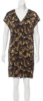 Lanvin Silk Leaf Print Dress