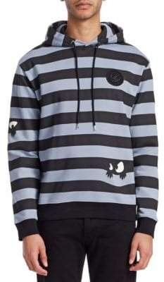 McQ Striped Cotton Hoodie