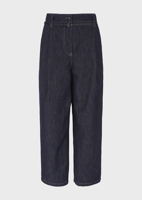 Giorgio Armani Denim-Effect Cotton And Wool Jeans