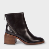 Paul Smith Women's Black Calf Leather 'William' Ankle Boots