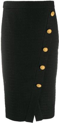 Boutique Moschino Button-Detail Midi Skirt