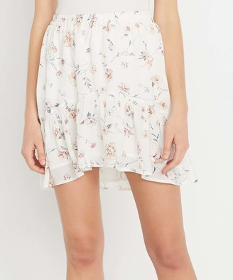 Buffalo David Bitton Women's Casual Skirts SPRING - White Floral Unity Skirt - Women