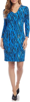 Karen Kane V-Neck Sheath Dress