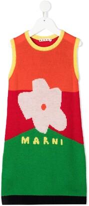 Marni Sleeveless Intarsia-Knit Dress