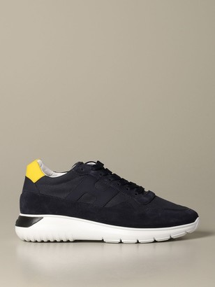 Hogan Sneakers In Suede And Canvas With Big H