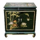 Oriental Furniture Asian 26-Inch Ming Design Chinese Lacquer Oriental End Table Nightstand Ha2011