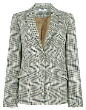 Dorothy Perkins Womens **Tall Multi Coloured Check Print Blazer, Multi Colour