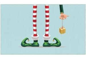 "Mohawk Elf Stockings Accent Rug, 18"" x 30"" Bedding"