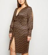 New Look Just Curvy Daisy Wrap Midi Dress
