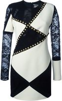 Fausto Puglisi lace panel studded dress