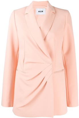MSGM Pleated Blazer