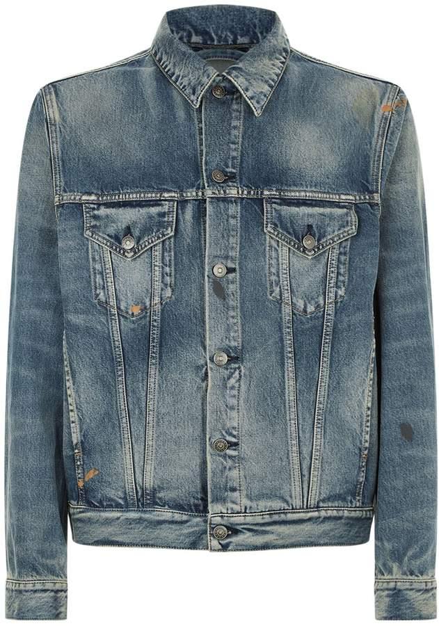 Gucci Embroiderd Tiger Denim Jacket