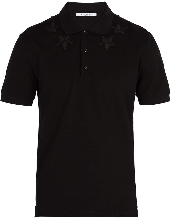Givenchy Star-embroidered cotton polo shirt