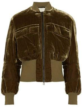 By Malene Birger Velvet Bomber Jacket