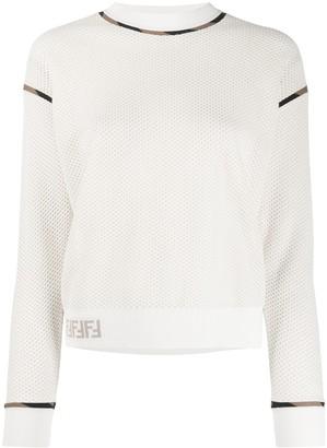 Fendi FF motif honeycomb detail sweatshirt