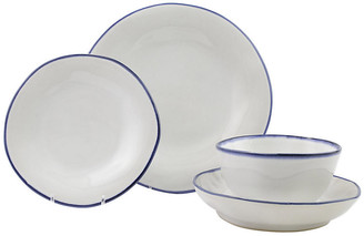 Vietri 4-Pc Aurora Edge Place Setting - White/Colbalt