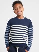 Gap Ombre stripe crewneck sweater