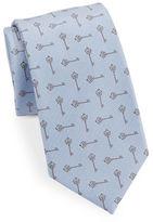 Vince Camuto Key-Pattern Silk-Blend Tie