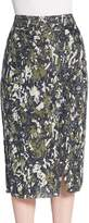 Jason Wu Women's Beaded Pencil Skirt - Navy